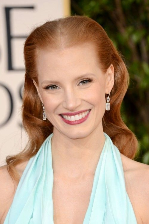 Jessica Chastain Oye Vey With That Middle Part It Draws