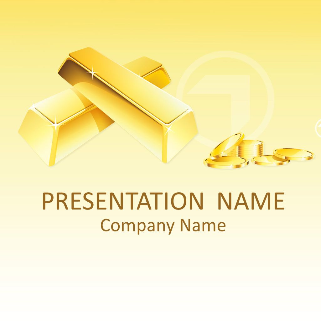 Gold Powerpoint Template Background Powerpoint Business