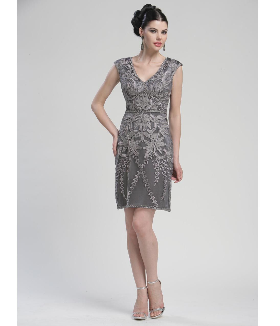 Unusual Mother Of The Bride Dresses: Pretty Charcoal Mother Of The Bride Dress