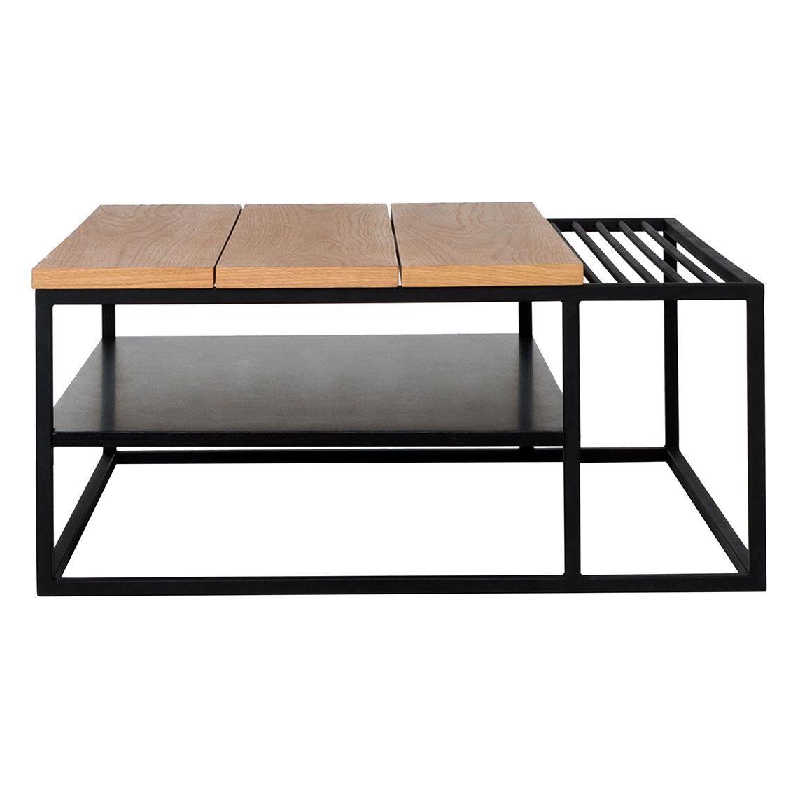 Best Atelier Coffee Table With Magazine Holder Black Oak 640 x 480