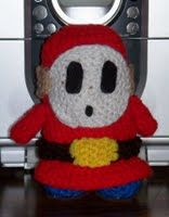 Super Mario Bros. Shy Guy plushie (with free crochet pattern)