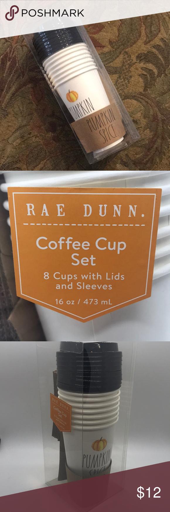 Rae Dunn Pumpkin Spice Coffee Cup Set NWT Spiced coffee
