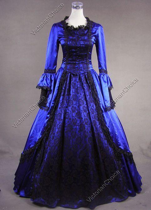 Marie Antoinette Renaissance Queen Dress Ball Gown Theatrical ...