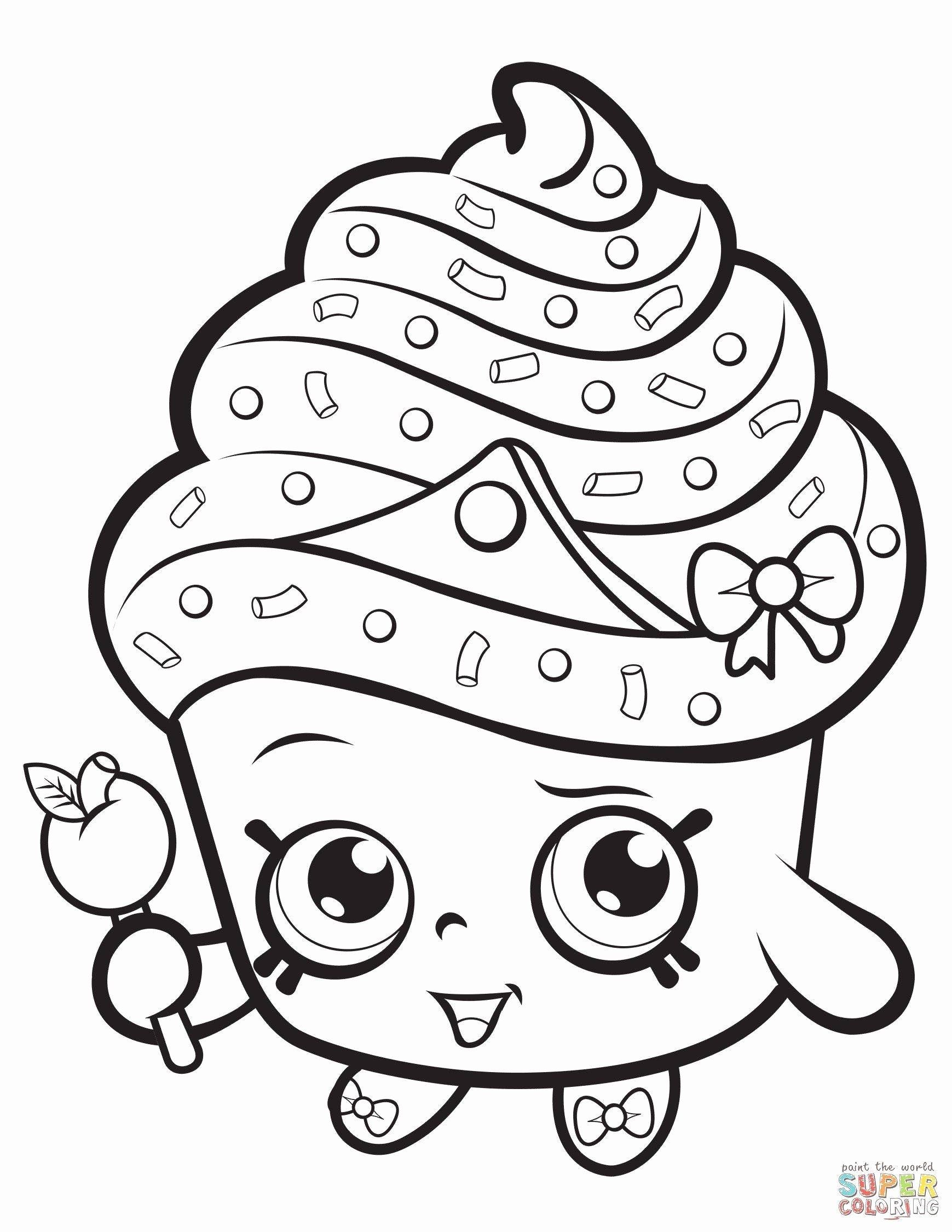 Shopkins Coloring Pages Free Printable Awesome Shopkin Coloring