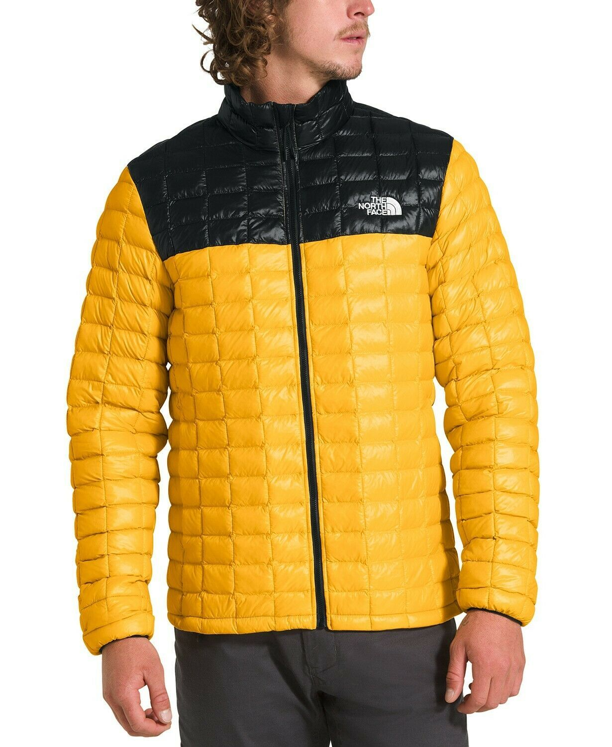 The North Face Mens Thermoball Eco Jacket Yellow Black Size Xl Nwt Ideas Of The North Face Thenorthface North Face Mens Insulated Jackets Packable Jacket [ 1500 x 1230 Pixel ]