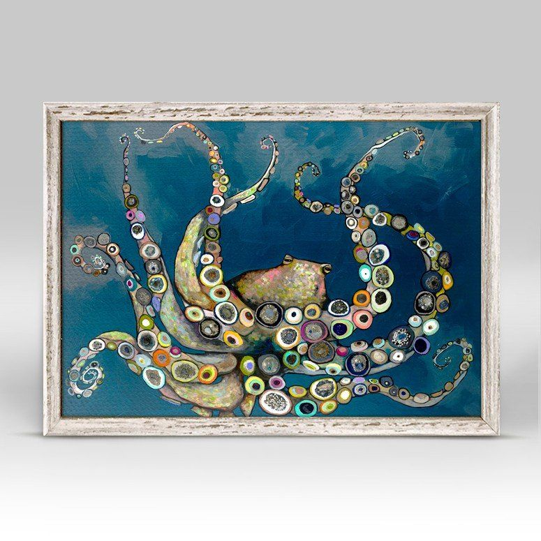 Octopus in the Deep Blue Sea Mini Print 7\