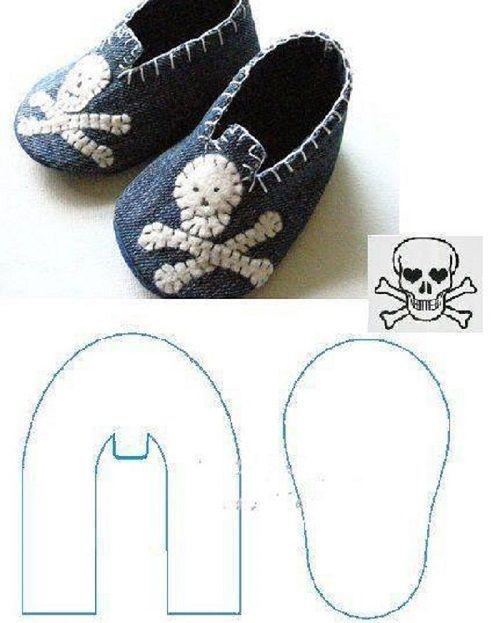 patrones de zapatos para la American Girl Doll hechos con fieltro ...