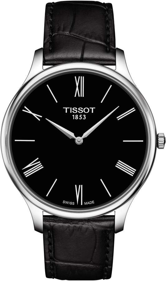 e2332ffd5ec Tissot Tradition 5.5 Round Leather Strap Watch