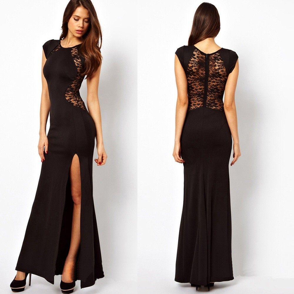 Black evening dress via vital kurvs click on the image to see more
