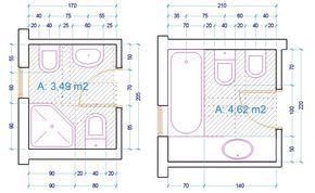 esempio dimensioni sanitari bagno | ensuite | Pinterest | Bathroom ...