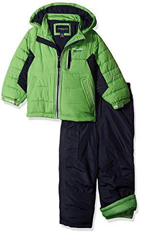 dbe90c5912b5 London Fog Toddler Boys 2Piece Snow Pant and Jacket Snowsuit Green ...