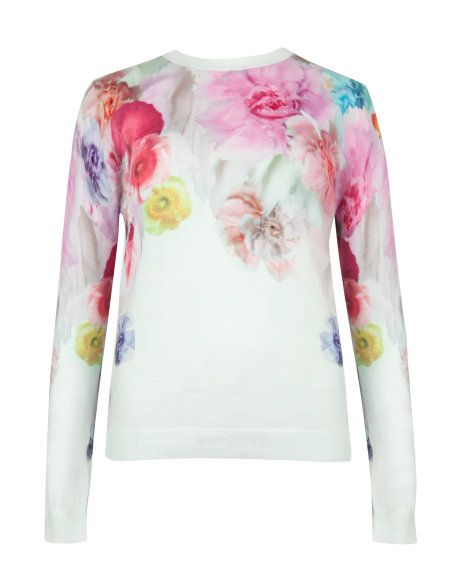82cbb1ff869 Sugar sweet print sweater - Pale Green | Knitwear | Ted Baker SEU ...