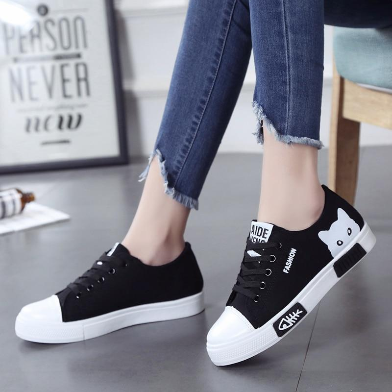 Cute Cartoon Canvas Shoes | Casual shoes women, Girls shoes, Sneakers fashion