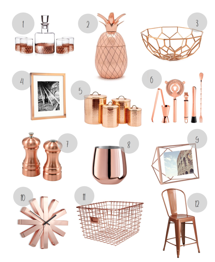 Copper - The New Metallic Accent - Hand Picked Habitat