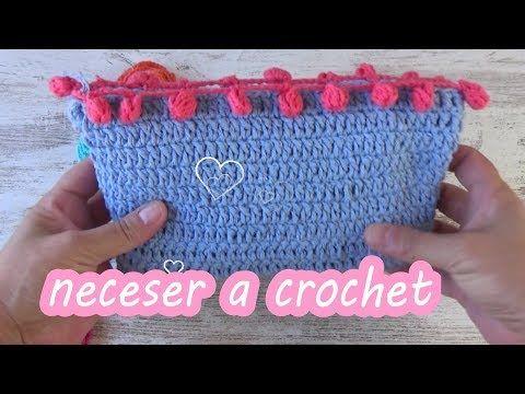 39e15a380 Como hacer un neceser en crochet facil para principiantes|ganchillo facil -  YouTube