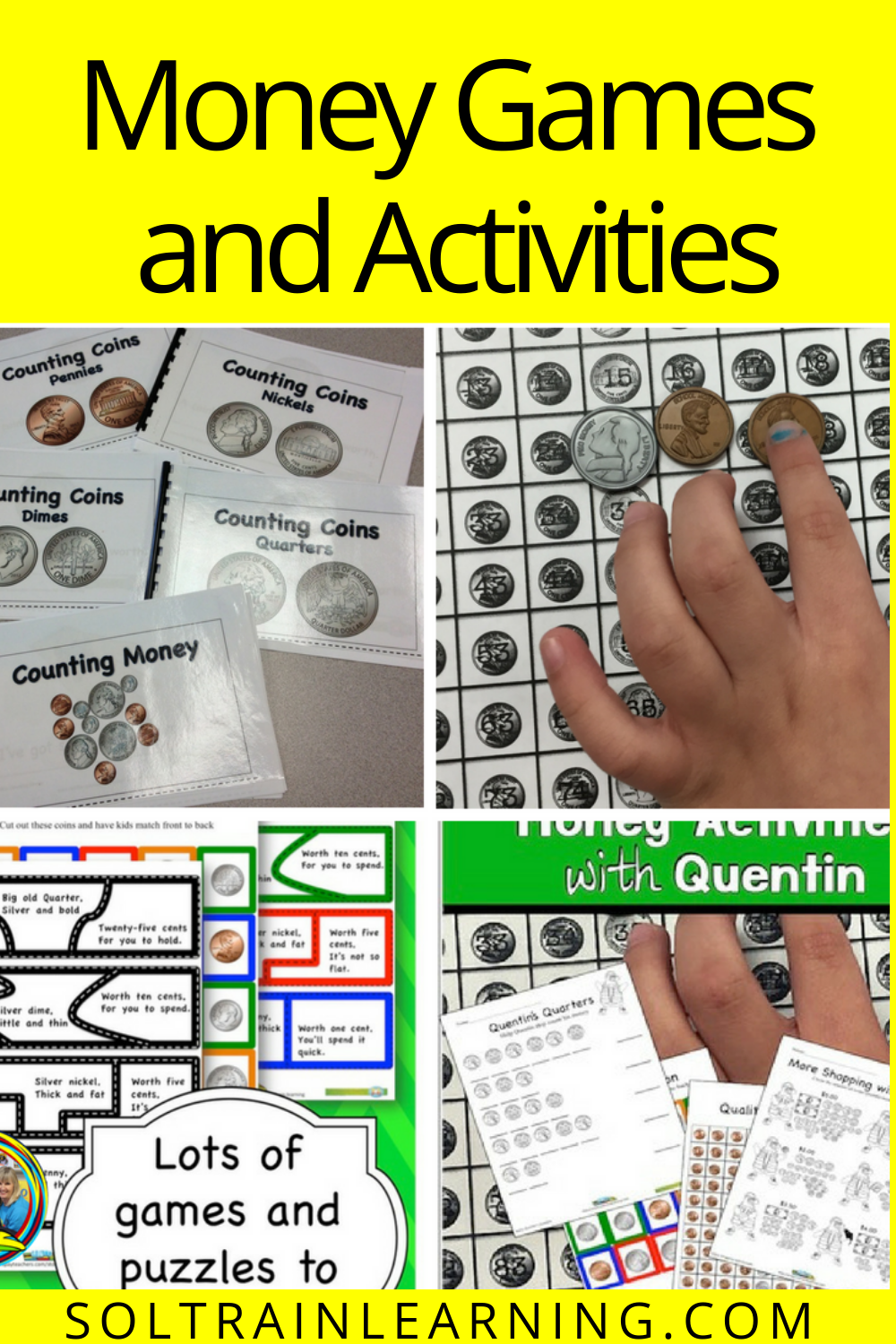 Money Games And Activities For Elementary Money Games Money Activities Money Worksheets [ 1500 x 1000 Pixel ]