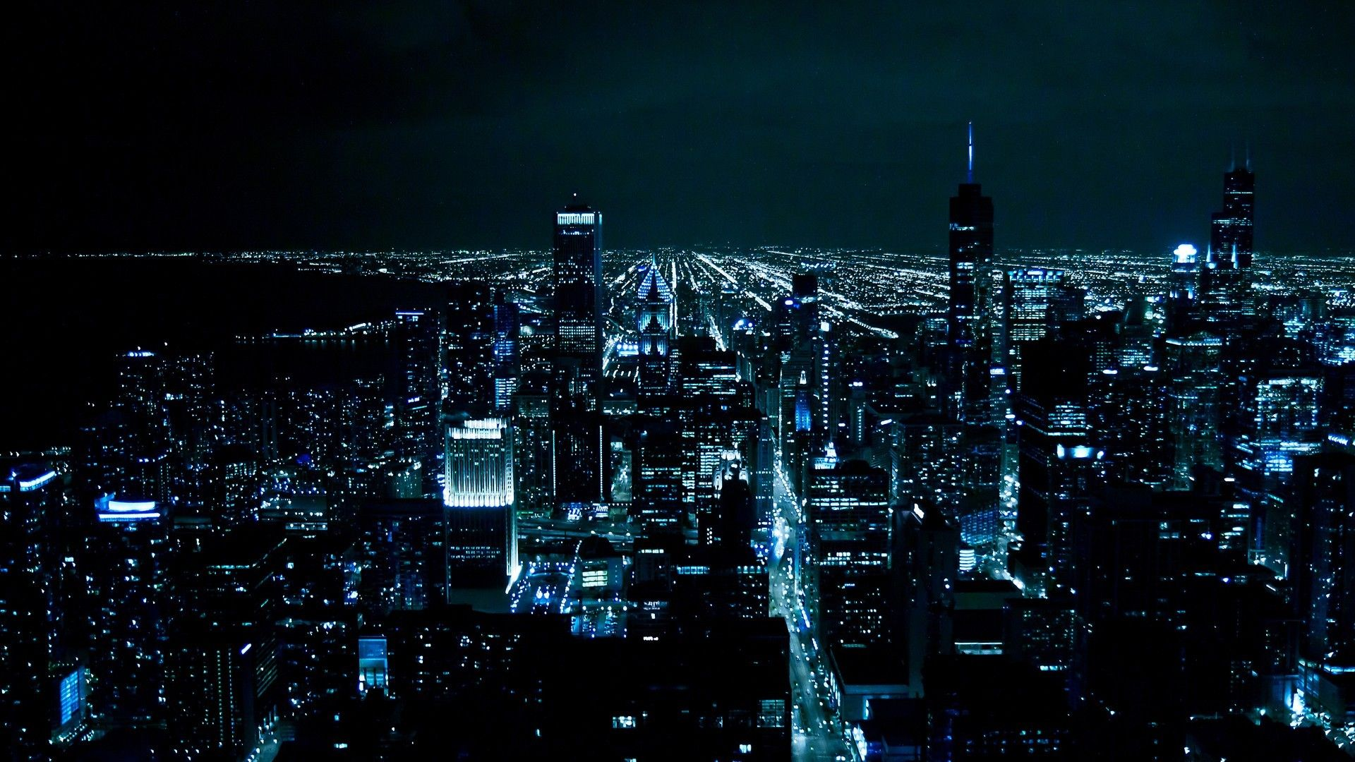 Chi Town City Lights Wallpaper Chicago Wallpaper
