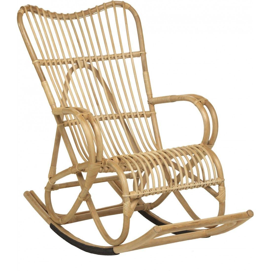 Fauteuil Rocking Chair En Rotin Naturel Vintage Marlene Chaise A Bascule Fauteuil A Bascule En Rotin Fauteuil Rotin