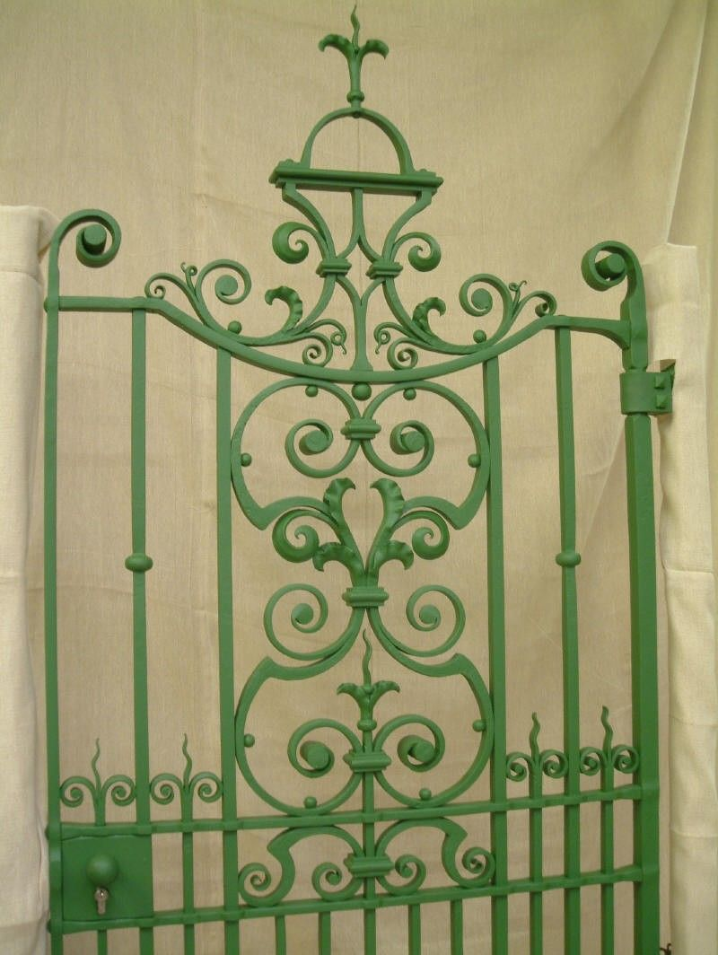 Elegantly Designed Traditional Wrought Iron Gate Made By A