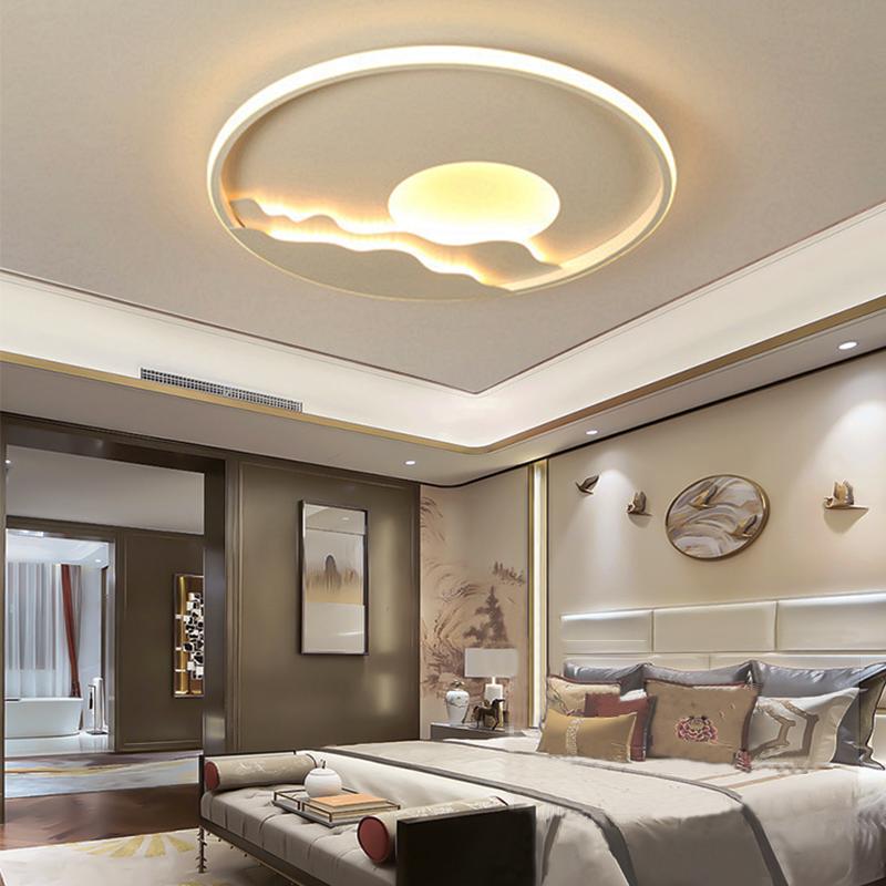 Modern Led Ceiling Light Dimmable Round Flush Mount Sunrise Ceiling Lamp In 2020 Modern Led Ceiling Lights Led Ceiling Lights Ceiling Lights