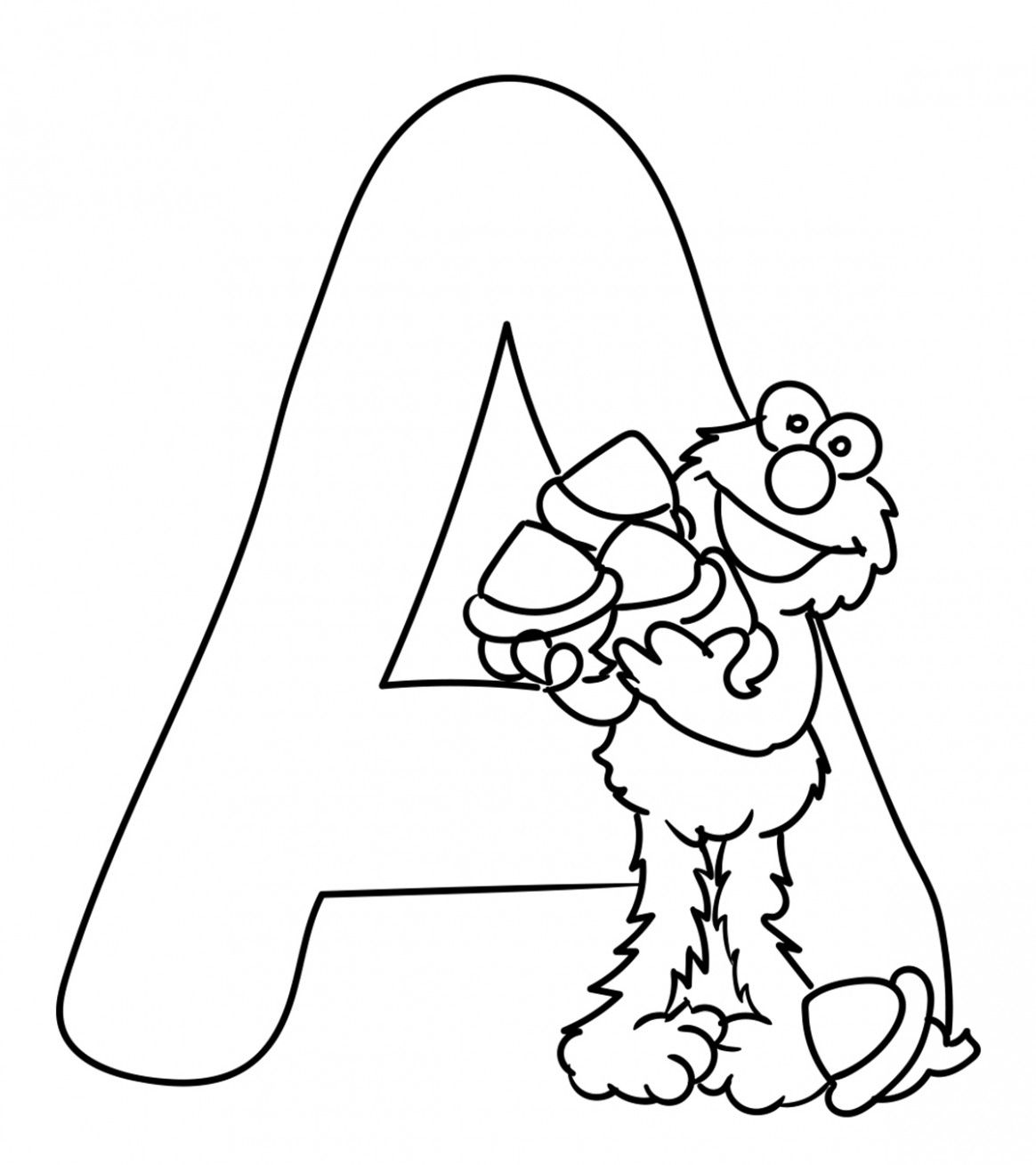 11 Letter A Coloring Pages In