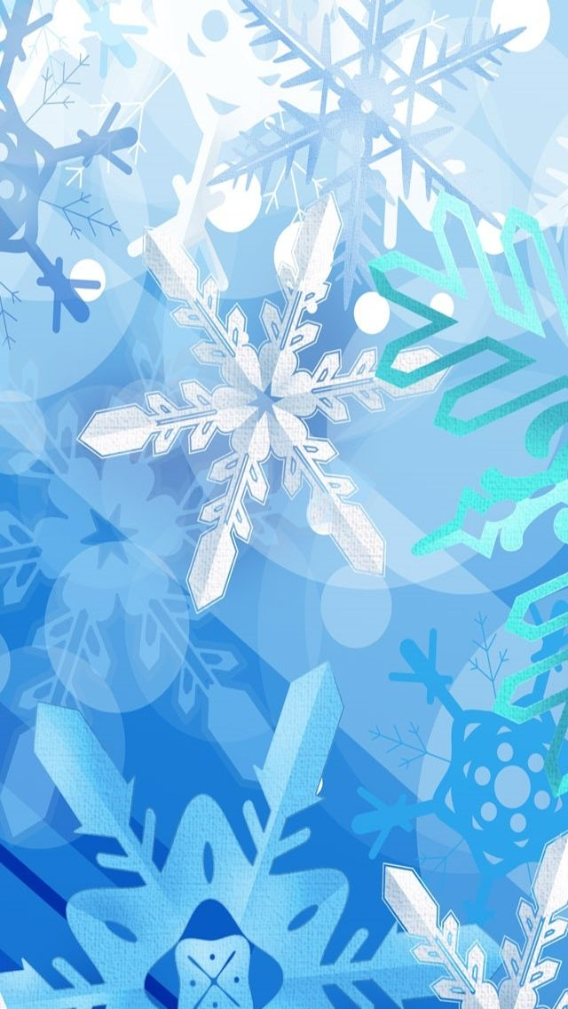 WINTER SNOWFLAKES, IPHONE WALLPAPER BACKGROUND