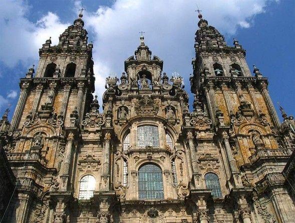 Gótico Renacimiento Barroco Santiago De Compostela Camino De Santiago Catedral