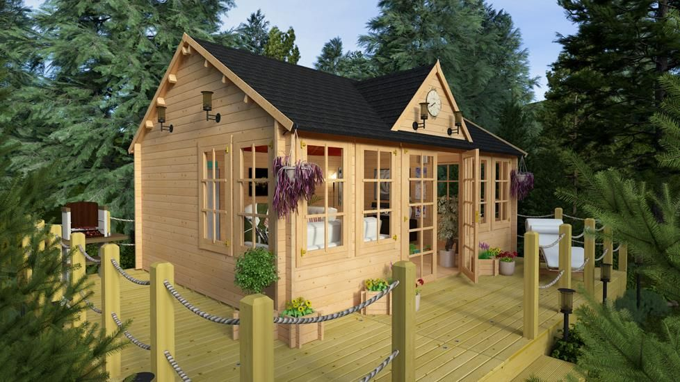 BillyOh Village Hall Log Cabin | home office | Pinterest