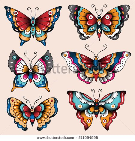 American Traditional Moths and Butterflies