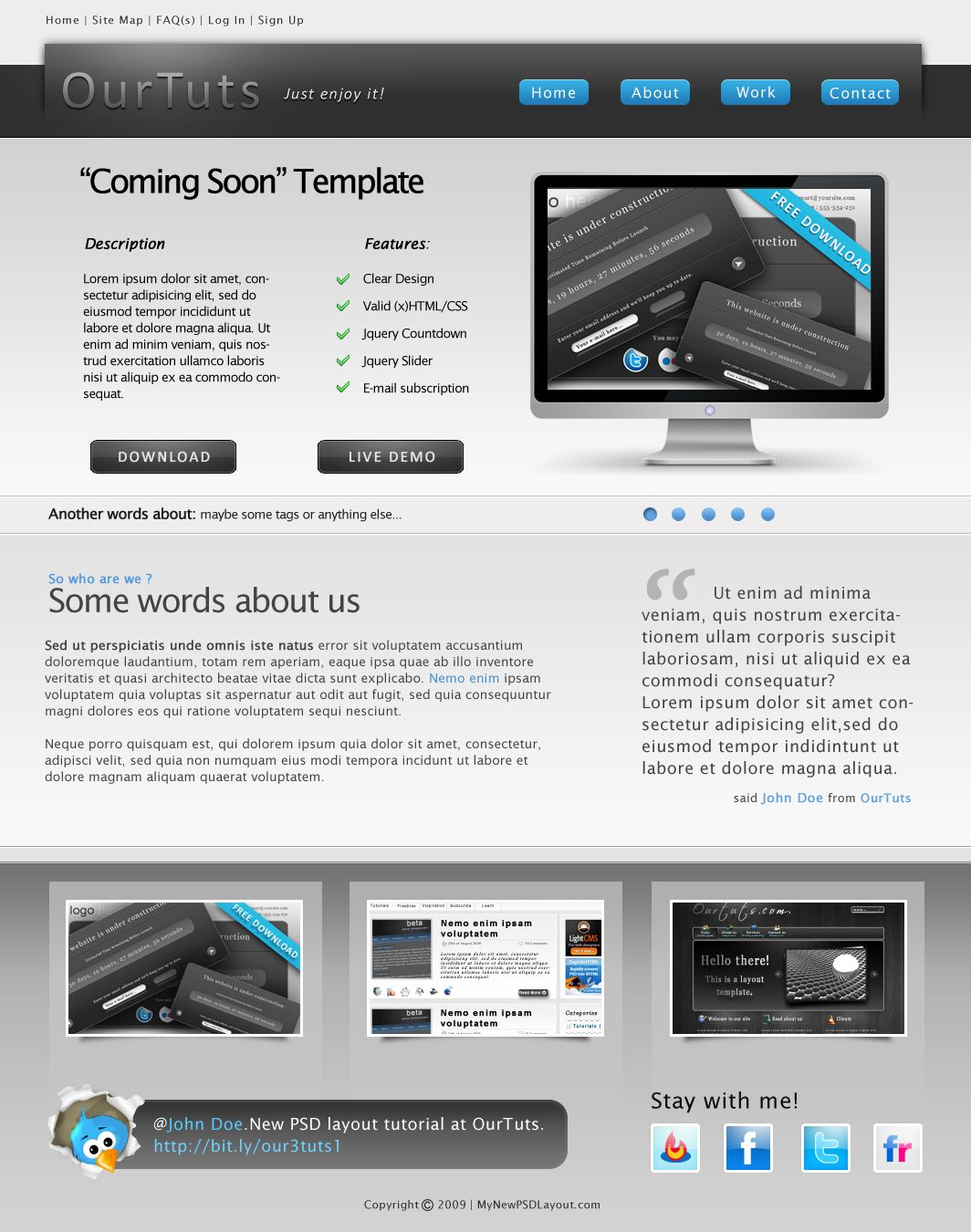 Free and Premium Portfolio HTML Website Templates | Template ...