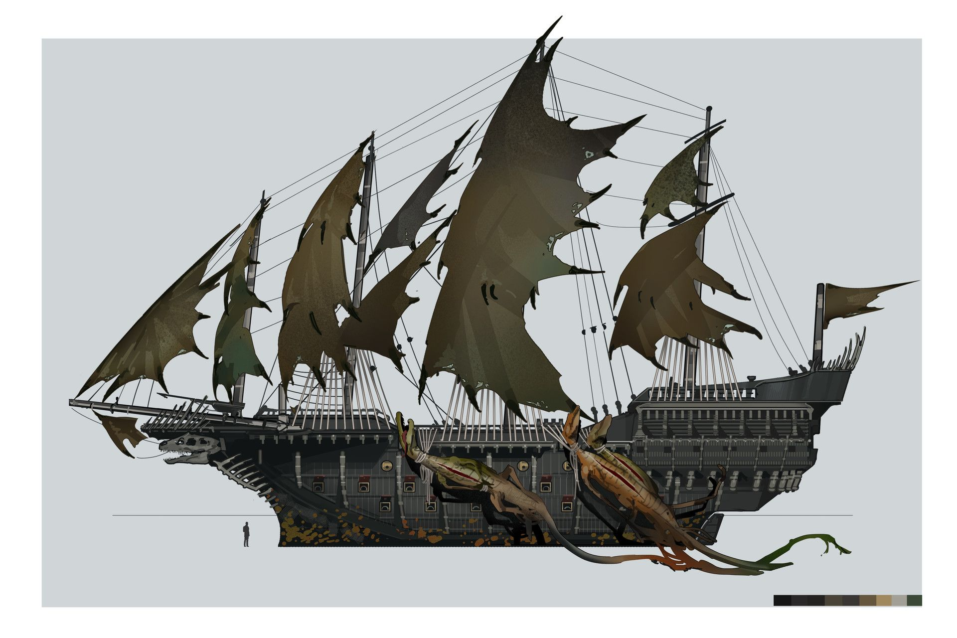 Artstation European Pirate Designs Brian Matyas Ship Artwork Pirate Ship Drawing Ship Art