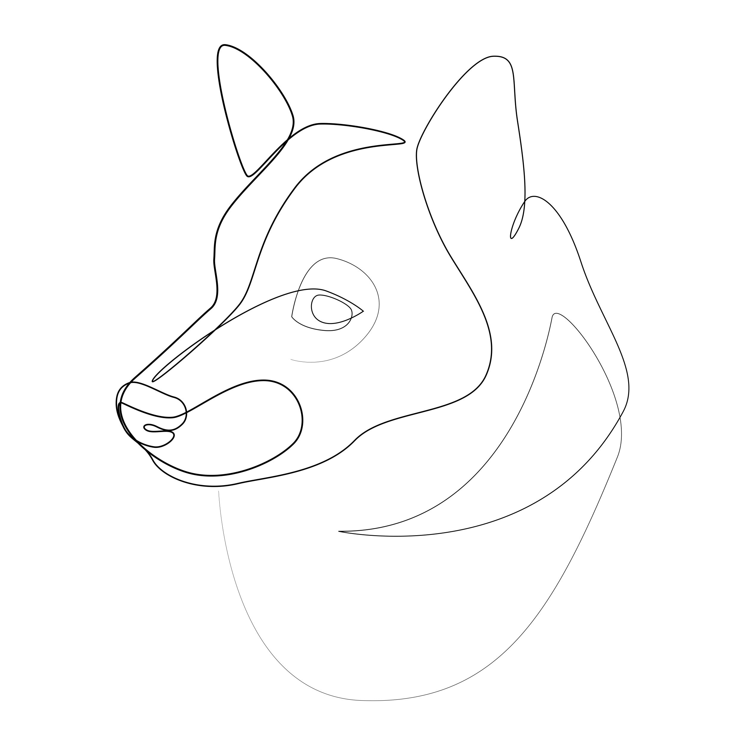 The Shiba Inu Withoneline Overwhelmed By All The Recent Feedback In The Store You Guys Dog Line Art Line Art Drawings Drawings