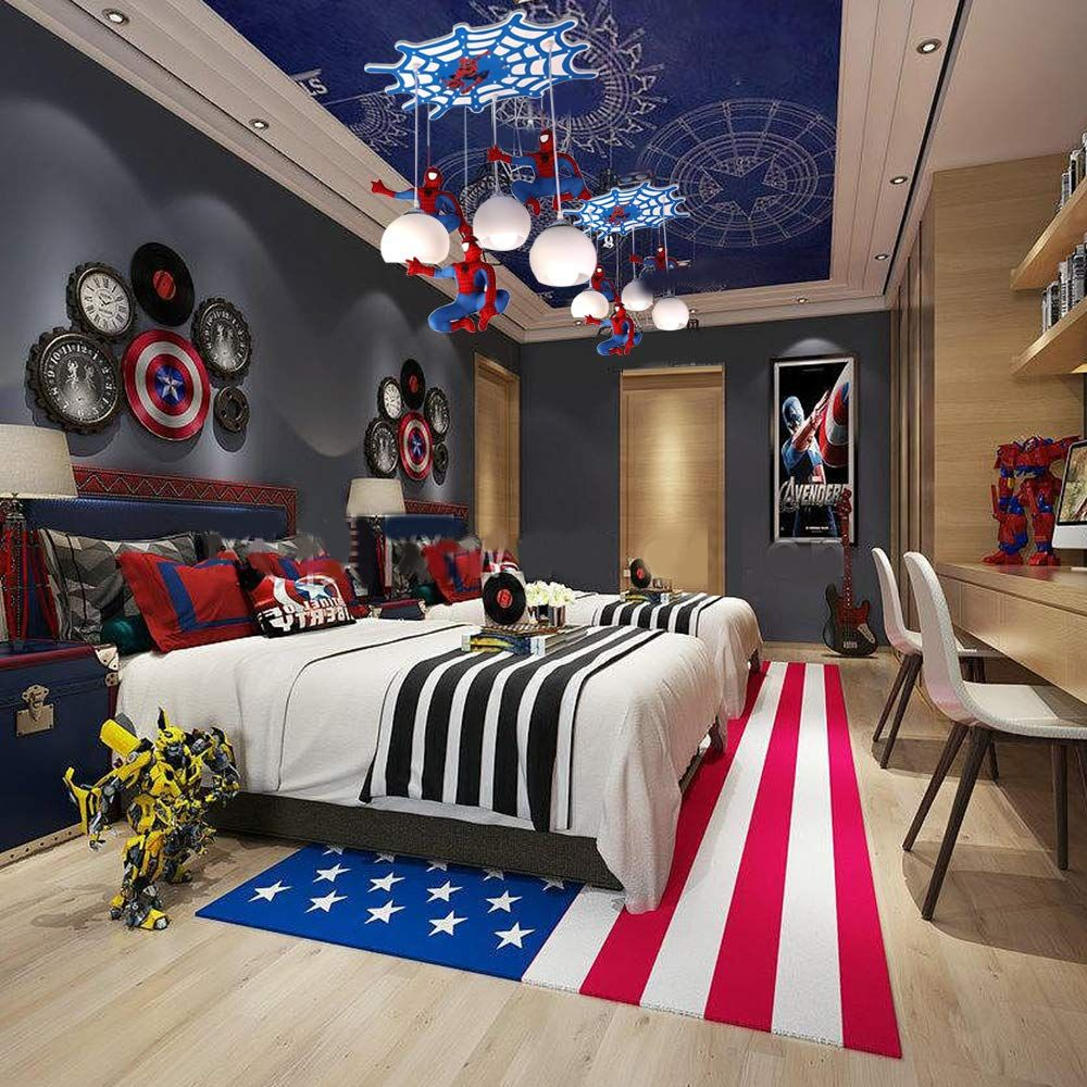 Spiderman Kronleuchter Led Hängelampe Im Coolen Spider Man Design Diese Hängeleuchte Für Das K Modern Kids Bedroom Kids Bedroom Designs Room Design Bedroom