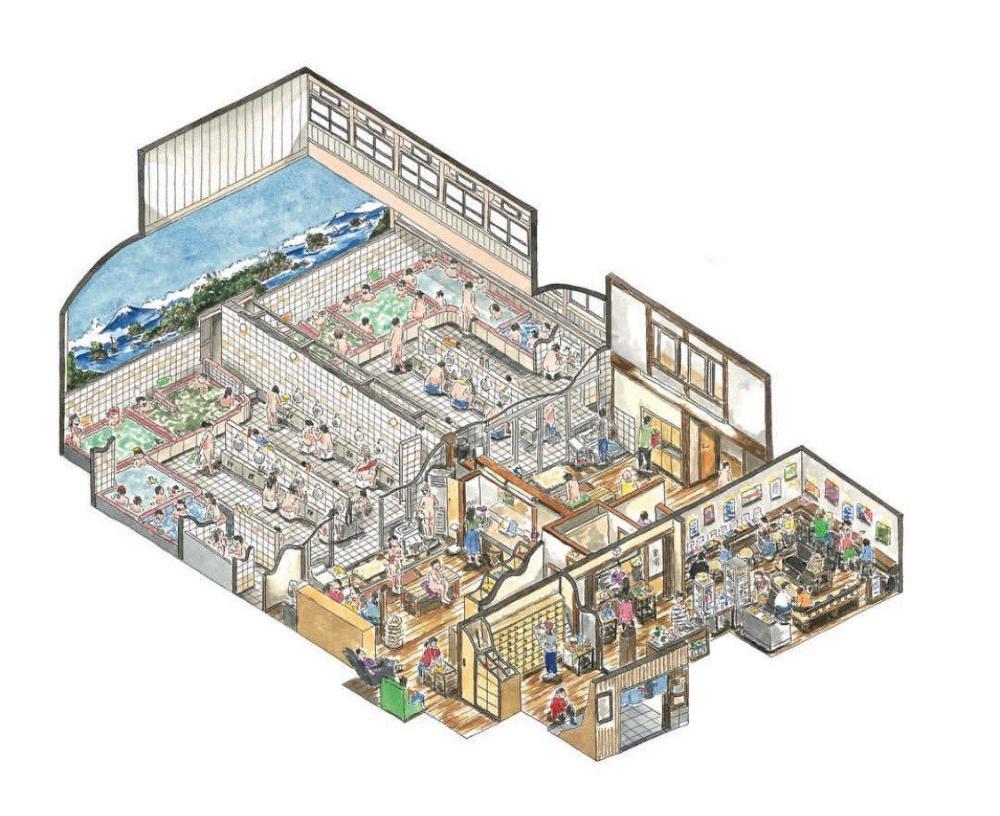 Japanese Public Bath Plans