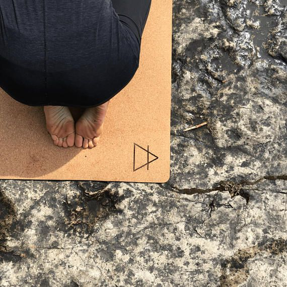 eco friendly cork yoga mat provides exceptional grip  the