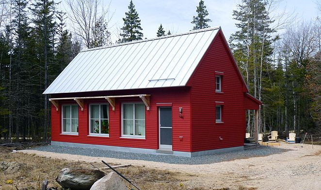 1100 square foot energy efficient prefab house plan by go for Energy efficient cabin
