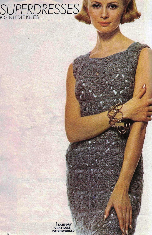 Vintage Crochet Dress Pattern - PDF. $4.25, via Etsy. | CROCHET ...