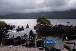 fly fishing at lough currane with Tom O'Shea