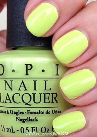 Opi Summer Neons Swatches And Review Nail Polish Opi Nail