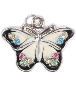 Enhance any work of art with these cute metal charms. Can be used with a wide variety of beads or strung alone. Add that little something extra with metal!  Manufacturer: Blue Moon Beads  Quantity: 1 butterfly pendant  Composition: Metal