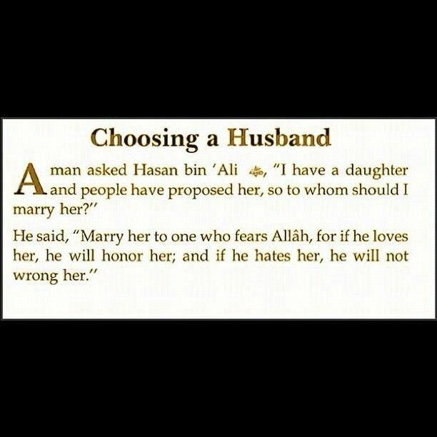 Guide for choosing a husband