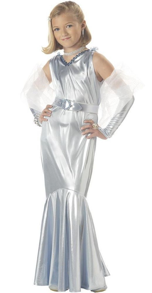 17c2a86fcc0a8 Details about Glamorous Hollywood Movie Star Girl Child Costume in ...