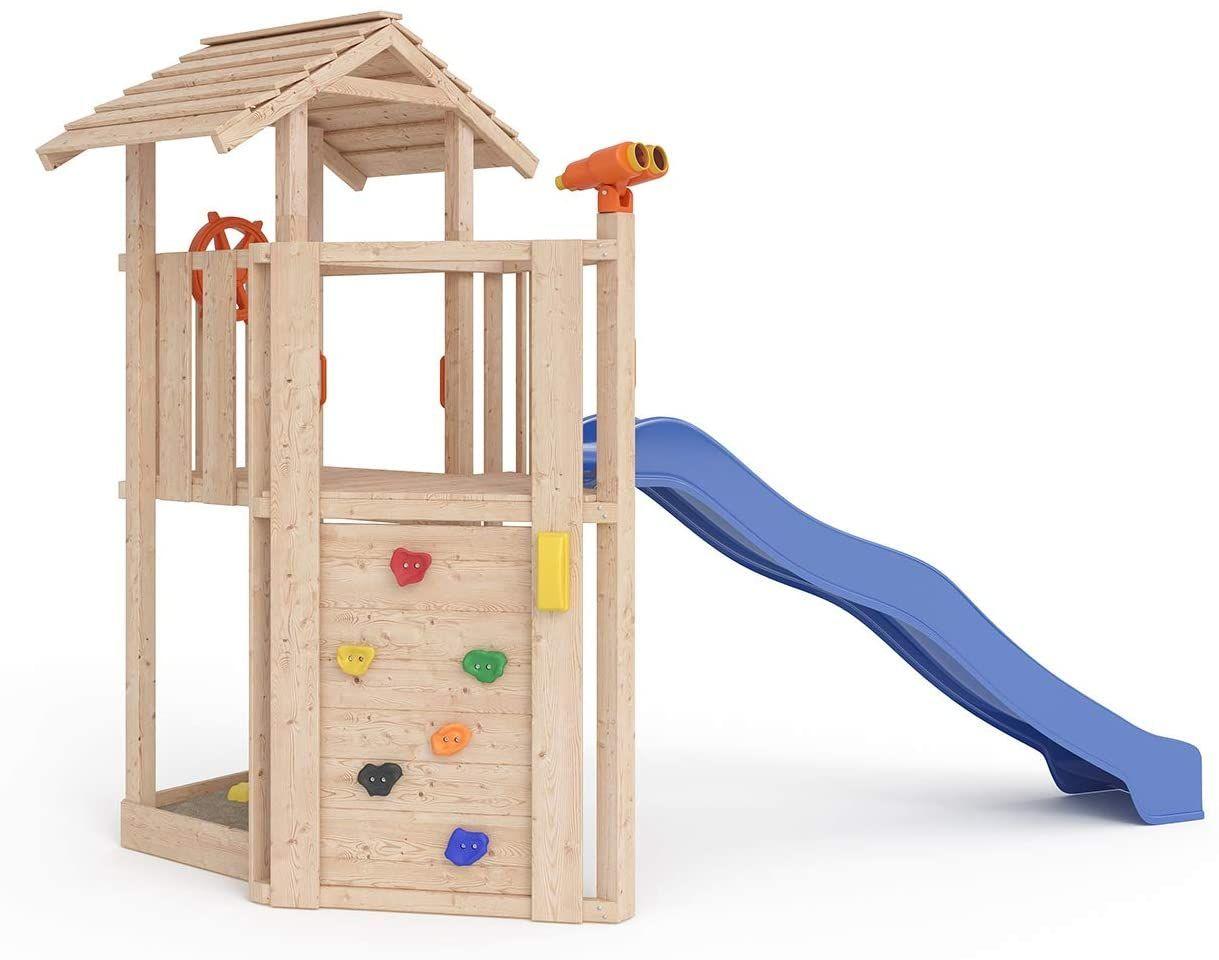 Spielturm Baumhaus Schaukel Kletterturm Rutsche 1 2 M Podest Inkl Sandkasten Kletterwand Und Anbau Isidor Little J In 2020 Spielturm Mit Schaukel Spielturm Baumhaus