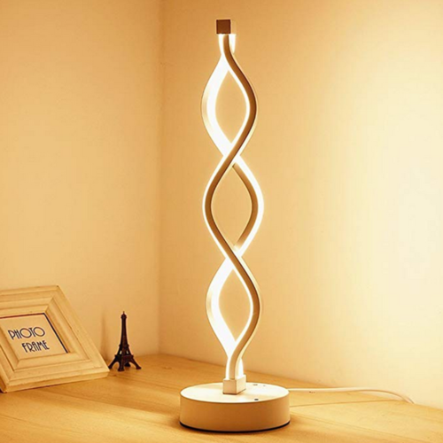 Double Spiral Led Table Lamp Creative Helix Bedside Lamp 12w Warm White Dimmable Ebay Modern Table Lamp Modern Lamp Desk Lamp Design