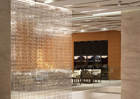 Interiors & Lighten Up | Suspended lighting Partition screen and Lights azcodes.com