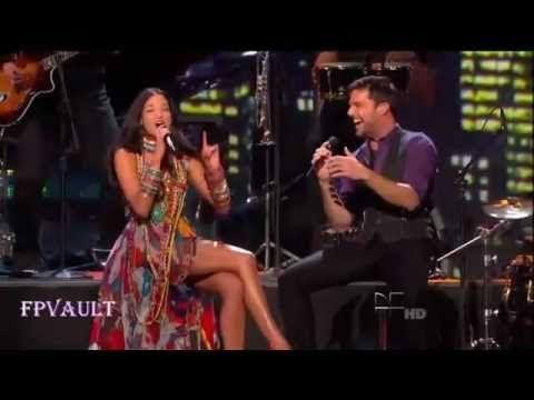 Ricky Martin and Natalia Jimenez, -Lo mejor de mi vida eres tu.