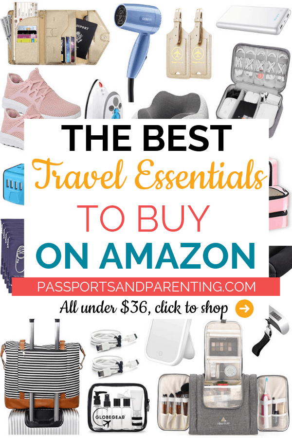 Be prepared for your next trip or vacation (International, roadtrip, cruise, for kids or wherever) in a budget friendly way thanks to these 21 must have travel essentials to buy on Amazon. #travel #traveltips #packing #amazon #travelessentials #travelpacking #travelhacks #fall #falltravel