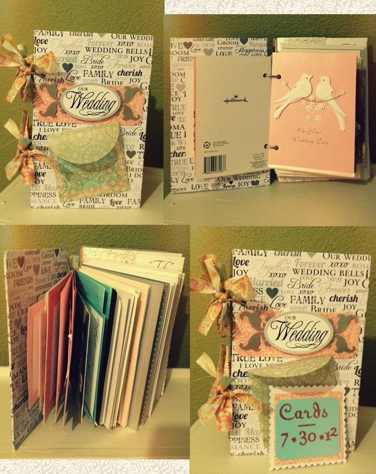 3e3816aecc92b56196ef414433e7b022g 736927 diy pinterest wedding card book make outer cardboard covers decorated with different size cards in the center stopboris Gallery