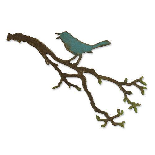 Sizzix Bigz Die Tim Holt Alterations - Bird Branch #557833