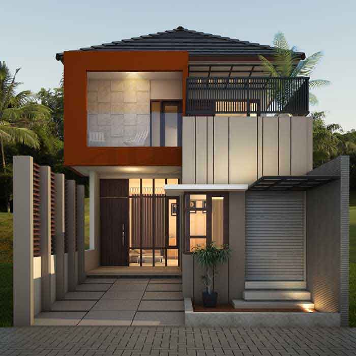 50 Model Desain Rumah Minimalis 2 Lantai Memiliki sebuah